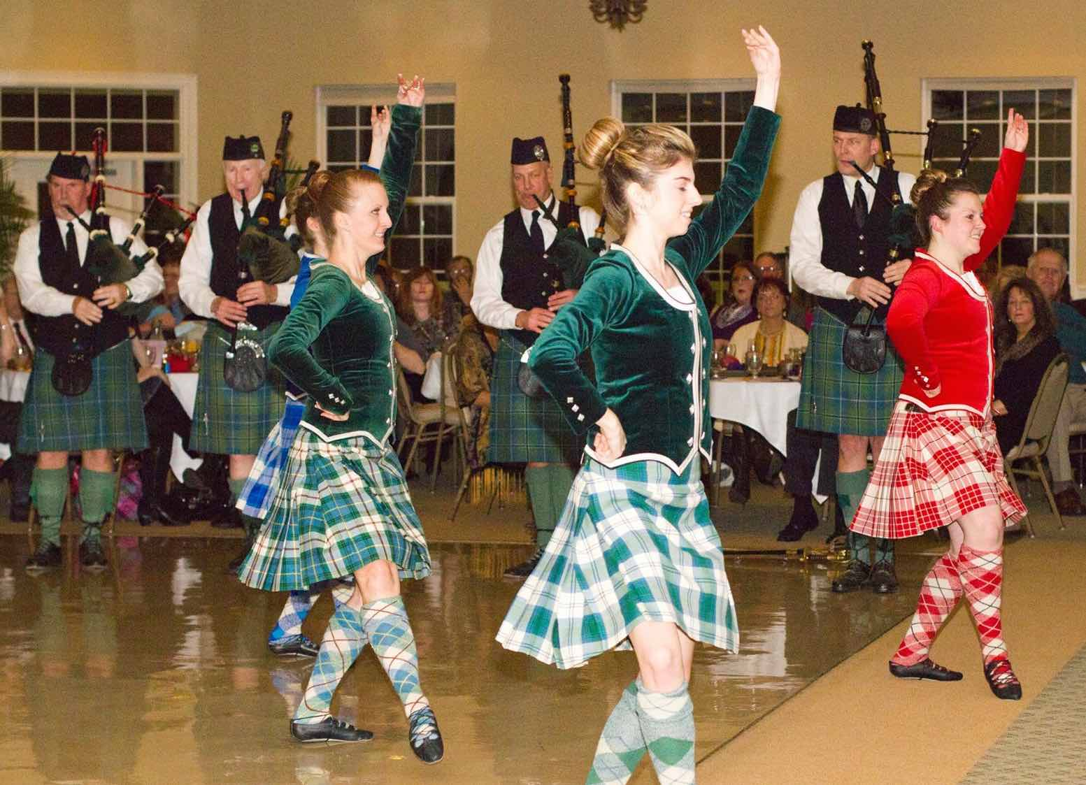Pipers and Dancers                 at Burns Night